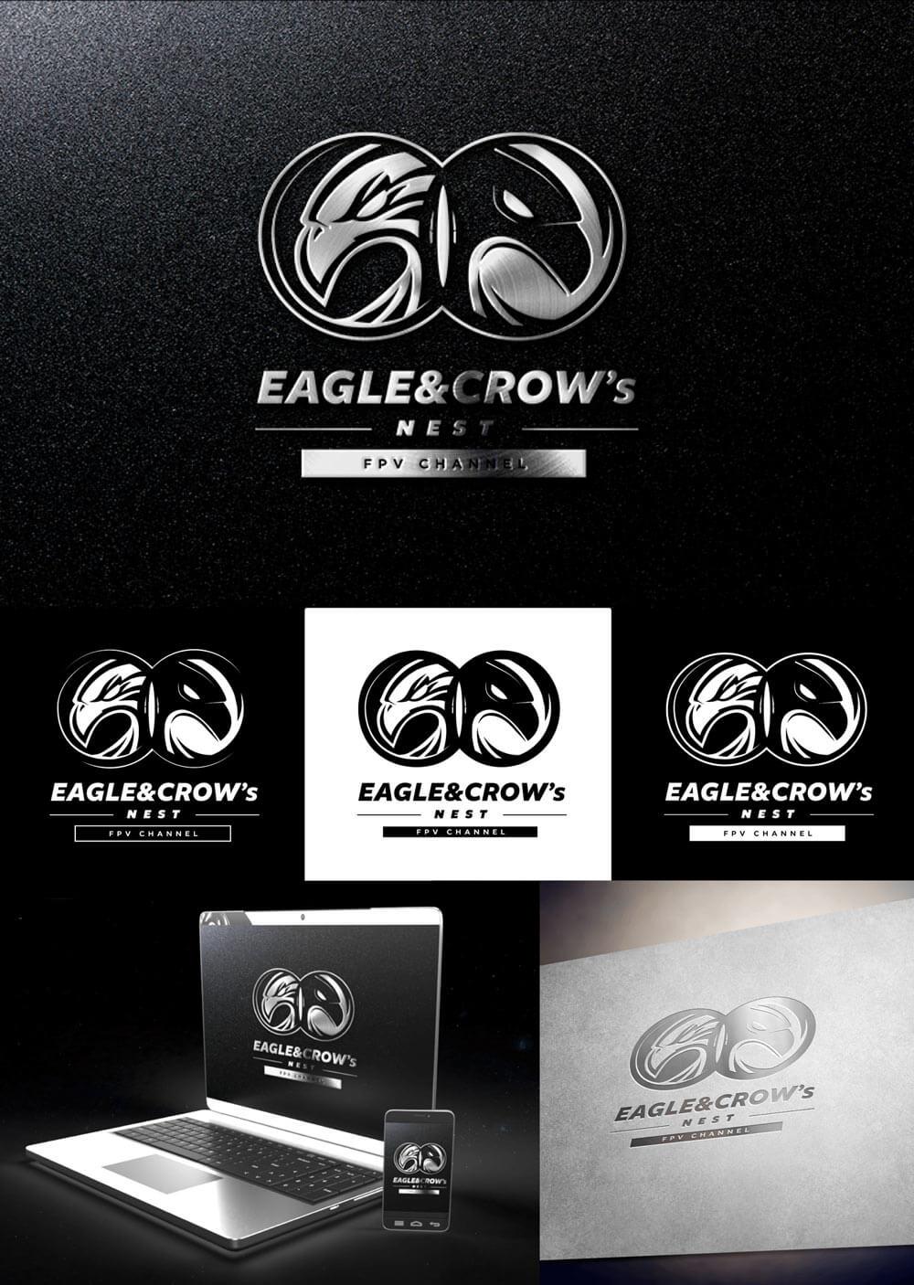 izrada loga i vizualni identiet - eagle&crow's nest